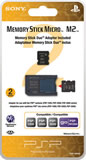 2GB Memory Stick Micro Media + M2 Duo Adaptor